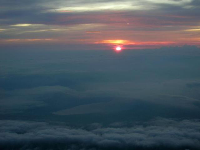 Sunrise from Mt.fuji