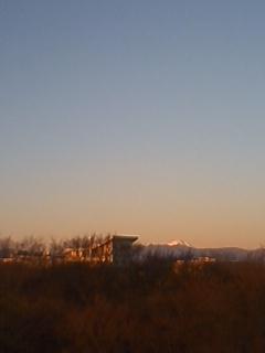 初日の出と紅富士と
