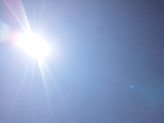 昼間の土手は太陽 sun sun 〜!