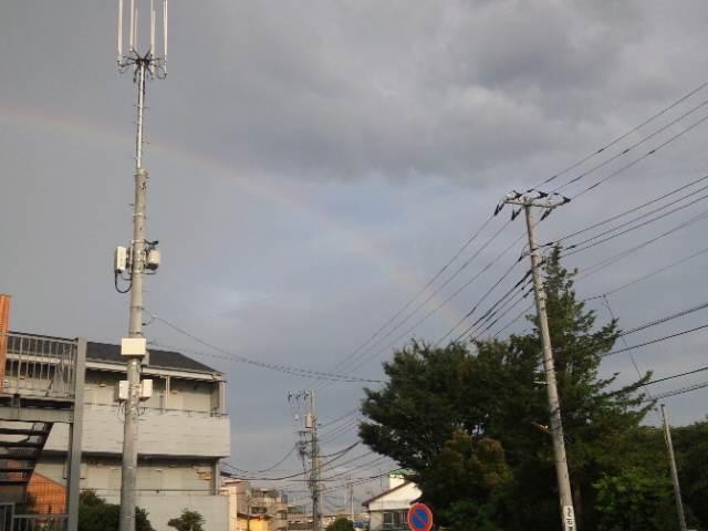 虹と日本武道館♪