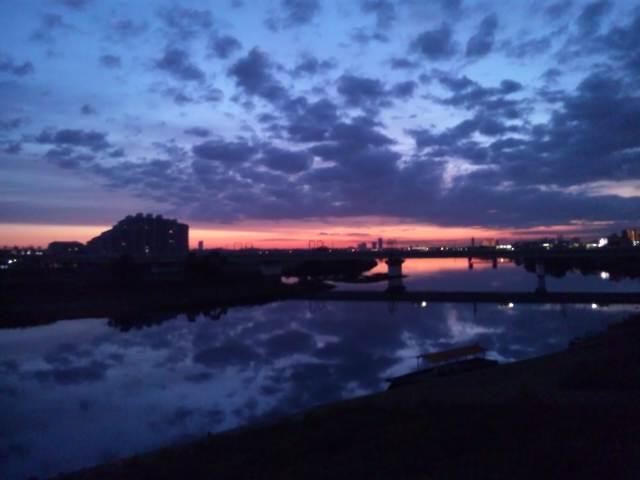 日の出です!