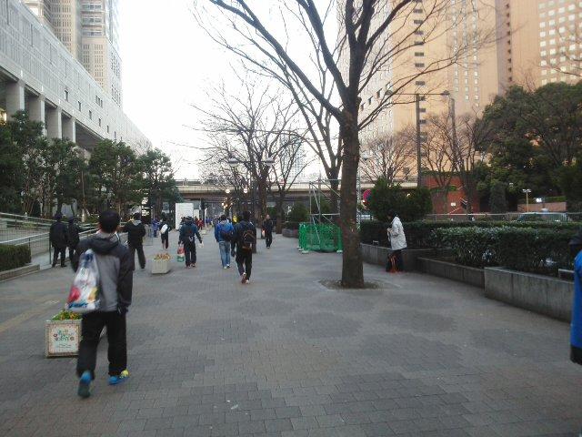 東京マラソンの朝