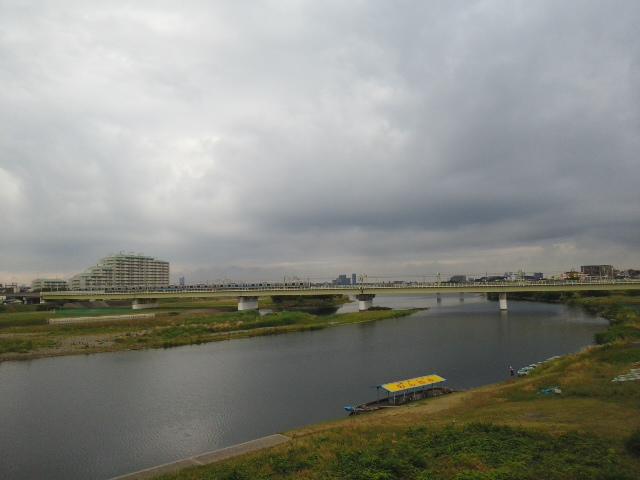 多摩川大橋の上